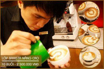 khóa học barista latte art