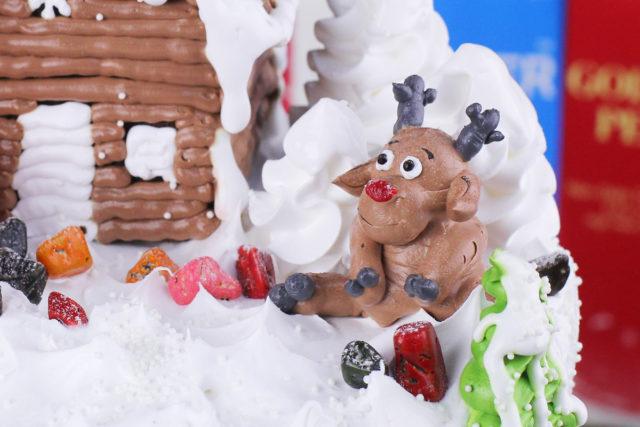Video Hướng Dẫn Trang Trí Bánh Kem – Con Tuần Lộc Noel