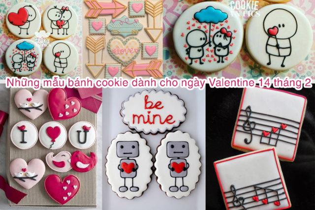 Những mẫu bánh cookie dành cho ngày Valentine 14 tháng 2