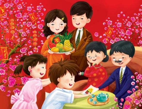 Phong tục Chúc Tết - Mừng Tuổi ngày xuân