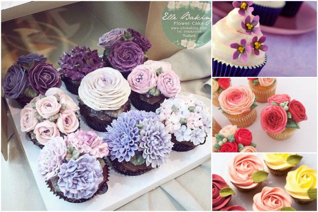 Những mẫu bánh cupcake đẹp cho ngày 8 tháng 3