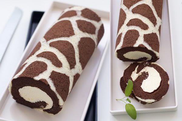 Giraffe Roll Cake