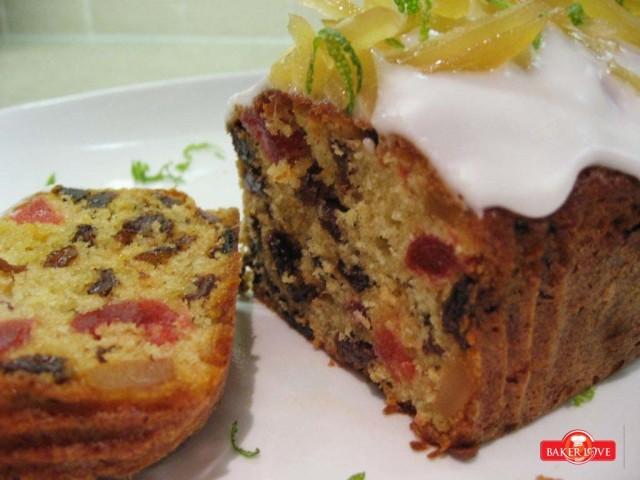 Mixfruit butter cake