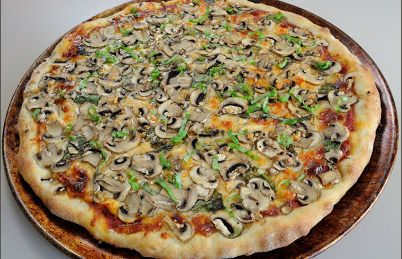 Musroom and Fresh Basil Pizza