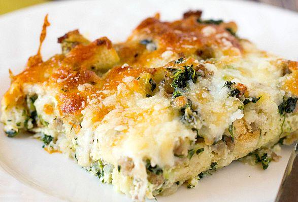 Sausage spinach breakfast Casserole