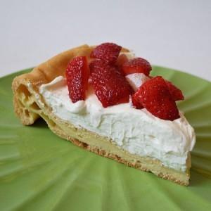 Strawberry Puf cheese cake