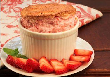 Strawberry soufflés